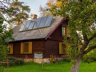 Solar collectors for Vecpiebalga holiday house