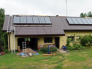 """Solar heat pump system in the guest house """"Berzini"""" in Vitrupe"""