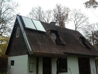 Two solar collector system in Jurkalnes street