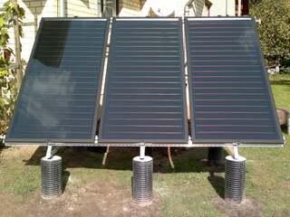 Solar collector system in Jumprava