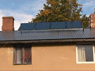 Solar collector system in Arlava Pension