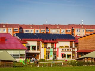 Solar collector system in Cesis 5th preschool educational institution