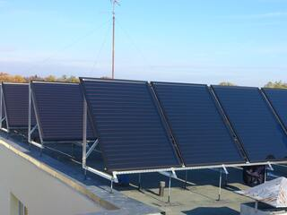 """Solar collector system in the social care and rehabilitation center """"Eleja"""""""