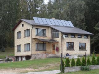Solar heating support system in Kegums