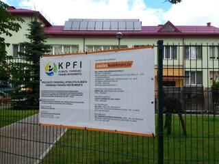 """Солнечные коллекторы для горячей воды в детском саду """"Varpina"""" в Руйене."""