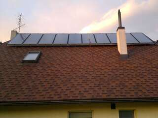 Swimming pool heating with solar collectors in Rundale