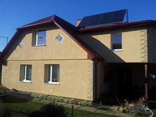 Solar collectors in Jēkabpils, Ilūkstes Street