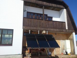 Solar collector system for hot water supply in Barbele