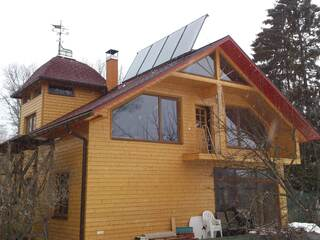 Solar collectors for hot water in Jurmala