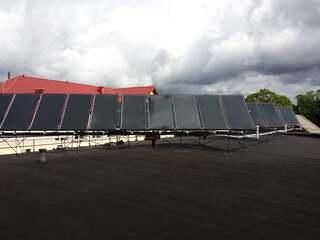 Vacuum TS400 solar collector system in Mazsalaca secondary school