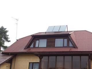 Solar collectors for providing hot water in Dreiliņi
