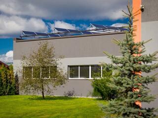 Solar panel system for car service in Krustpils region