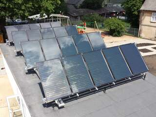 Solar collector system for hot water supply in the kindergarten, Tukums