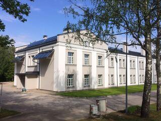 Solar collectors for the NAF Infantry School Barracks building in Aluksne