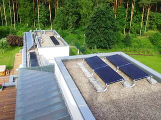 Solar panel system for a private house in Pinki