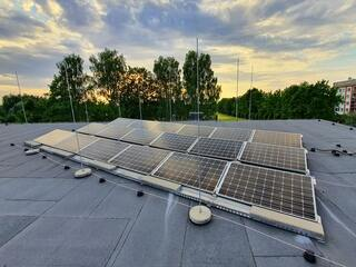 Solar panels for an administrative building in Ragana